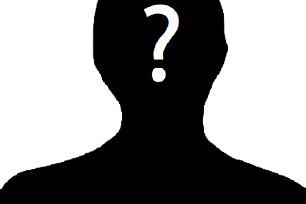 A human silhouette with a question mark over the face