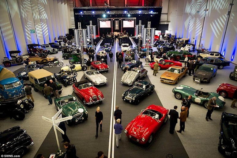 A show room full of classic cars
