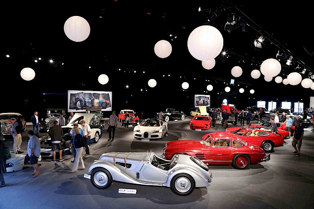 A showroom full of classic cars