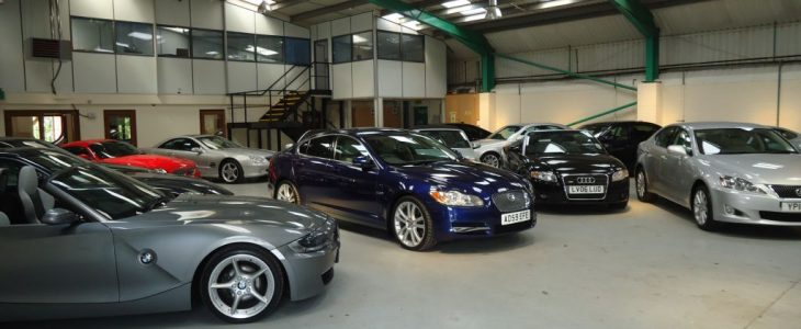 car auction showroom