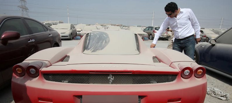 Dubai abandoned luxury car auctions
